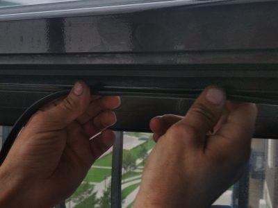 замена резины на алюминиевых окнах